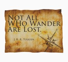 Not All Who Wander Are Lost - J. R. R. Tolkien  One Piece - Short Sleeve