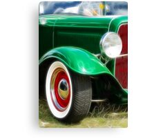 Green Hot Rod Canvas Print