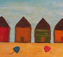 Rustic Beach Shacks by Julie  Sutherland
