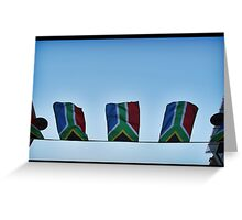 The South African Flag Greeting Card