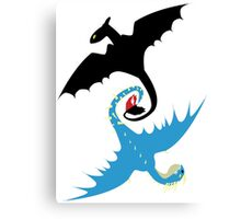 How to Train Your Dragon - Toothless and Stormfly Canvas Print
