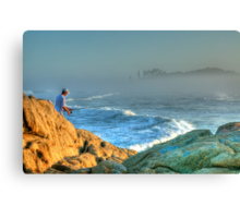 The Lone Fisherman Canvas Print