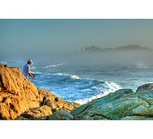 The Lone Fisherman Photographic Print