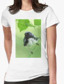Black-throated Blue Warbler Womens Fitted T-Shirt