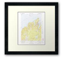 Massachusetts  USGS Historical Topo Map MA Vineyard Haven 351380 1972 25000 Framed Print