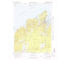 Massachusetts  USGS Historical Topo Map MA Vineyard Haven 351380 1972 25000 Photographic Print