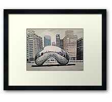 Chicago Bean Painting  Framed Print