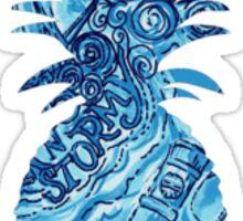 Lilly Pulitzer Inspired Pineapple Dark N Stormy Sticker
