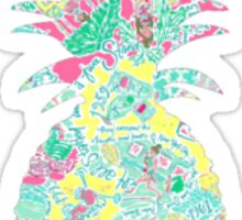 Lilly Pulitzer Inspired Pineapple In the Beginning Sticker