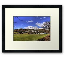 Playing Fields of Coniston Framed Print