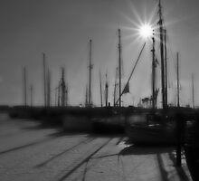 Harbor morning mood by Christian Hartmann
