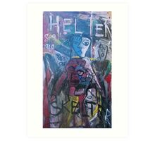 ABSTRACT HELTER SKELTER Art Print