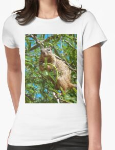 Just a Squirrel Womens Fitted T-Shirt