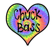 Tiedye Chuck Bass Heart - Gossip Girl by alexavec