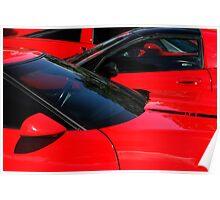 Corvette Red Poster
