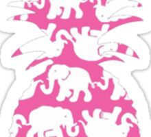 Lilly Pulitzer Inspired Pineapple Tusk in Sun (Pink) Sticker