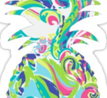 Lilly Pulitzer Inspired Pineapple Toucan Play Sticker