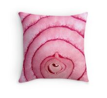 Heart Of A Red Onion Throw Pillow