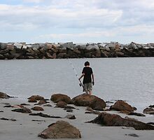 Boy and Fishing Pole by Faith Schilling