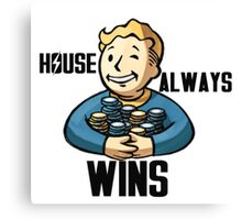 Fallout - House Always Wins Canvas Print