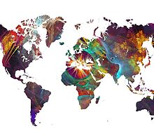 World Map fractal 2 by JBJart