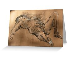 Reclining Male Nude #2 Greeting Card