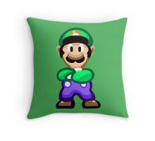 Luigi 16 Bit Throw Pillow