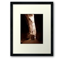 Approaching the Treasury  Framed Print
