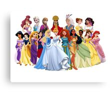 Princesses Canvas Print