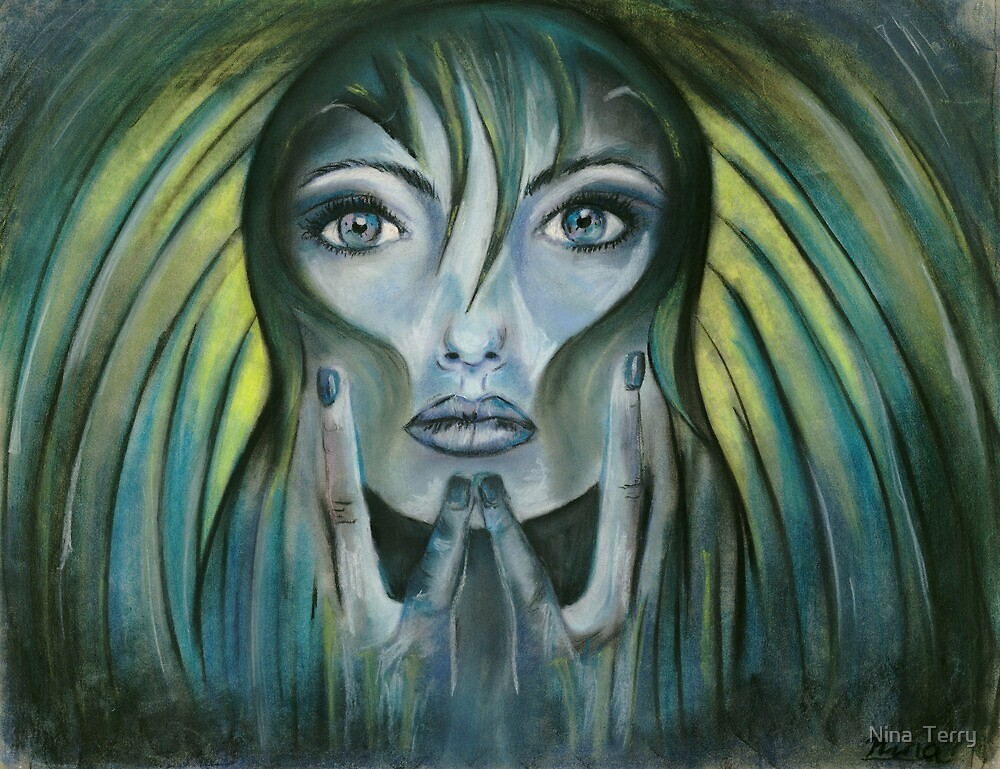 Day dreamer-blue mood by Nina  Terry