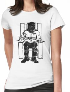 Death Row (Black Chair) Womens Fitted T-Shirt