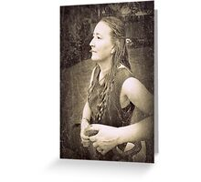 """""""Poised desolation - a hard but noble definition. """" Greeting Card"""