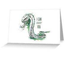 Harry Potter Basilisk Greeting Card