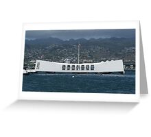 USS Arizona Memorial - Pearl Harbour, Honolulu, Hawaii Greeting Card