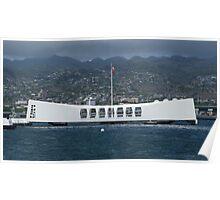 USS Arizona Memorial - Pearl Harbour, Honolulu, Hawaii Poster
