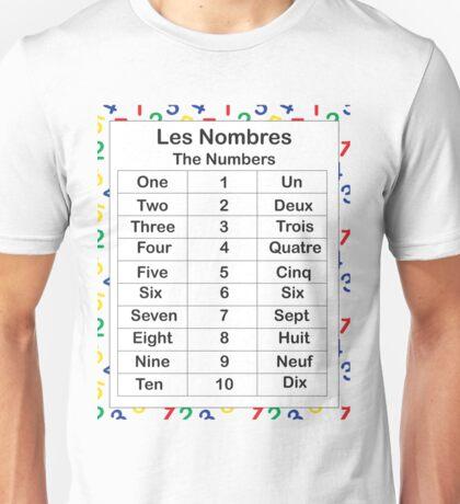 Les Nombres Unisex T-Shirt