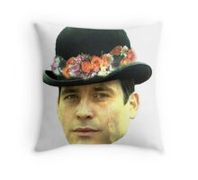 Thomas Barrow Flower Crown Throw Pillow