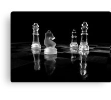 Black and white chess Canvas Print
