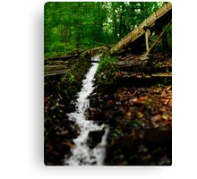 Grist Mill Flume Diverted Canvas Print