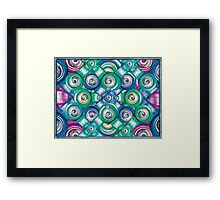 Multicolored Shapes Pattern Framed Print