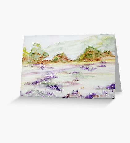 Field of Lupines Greeting Card