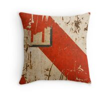 Red Travail Throw Pillow
