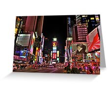 Times square by Night Greeting Card