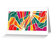 Multicolored Vibrations Greeting Card