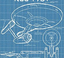 U.S.S. Enterprise Blueprints by LlapBazinga
