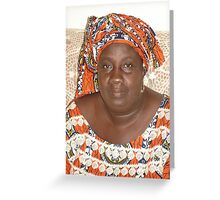 Strength of the African Woman Greeting Card