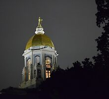 Notre Dame Golden Dome by LlapBazinga