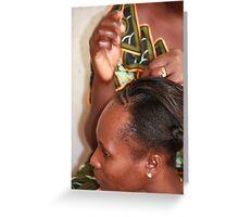 Traditional Hair Braiding Greeting Card