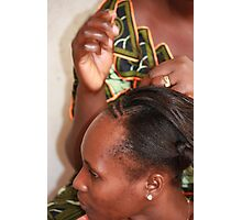 Traditional Hair Braiding Photographic Print