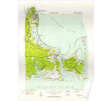 Massachusetts  USGS Historical Topo Map MA Edgartown 350121 1951 24000 Poster